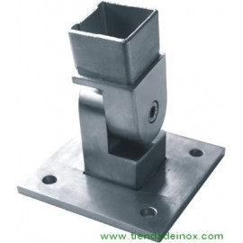 Soporte regulable acero inoxidable satinado para tubo o poste 818-INOX