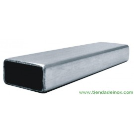Tubo rectangular de acero inoxidable satinado 352-INOX-R