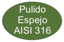 Acero inoxidable pulido espejo AISI316