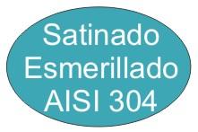 Acero inox satinado esmerillado AISI304