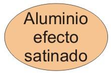 Aluminio efecto satinado
