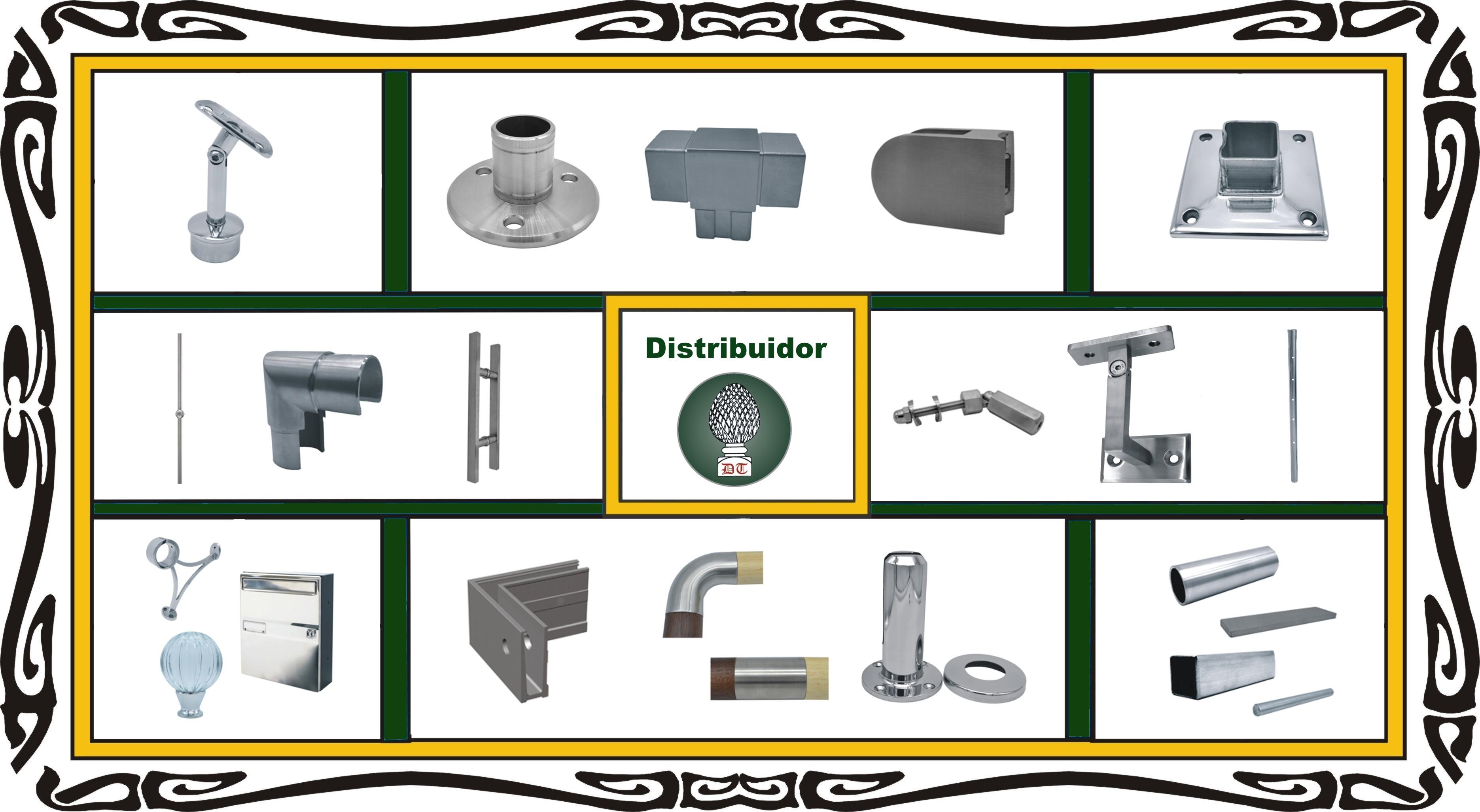 Distribución y montaje de piezas, accesorios y herrajes de acero inoxidable